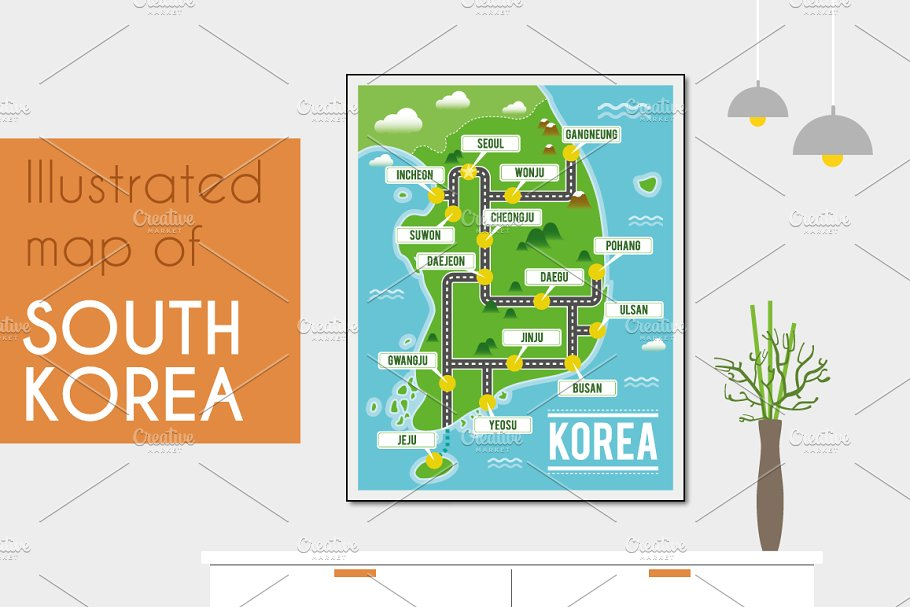 Illustrated map of South Korea on a map of the u, a map of the florida keys, a map of the european countries, a map of soviet union, a map of the far east, a map of estonia, a map of japan, a map of vietnam, a map of the pentagon, a map of moldova, a map of indonesia, a map of vanuatu, a map of andorra, a map of anguilla, a map of seychelles, a map of other country, a map of korean war, a map of the united, a map of u.s.a, a map of tuvalu,