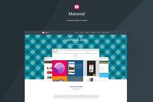 Material - Material Design Template