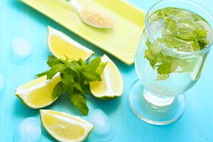 Mojito and ingredients