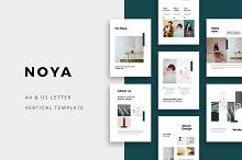 NOYA - Vertical Powerpoint Template by  in PowerPoint