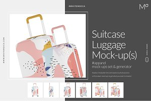 Suitcase Luggage Mock-ups Set