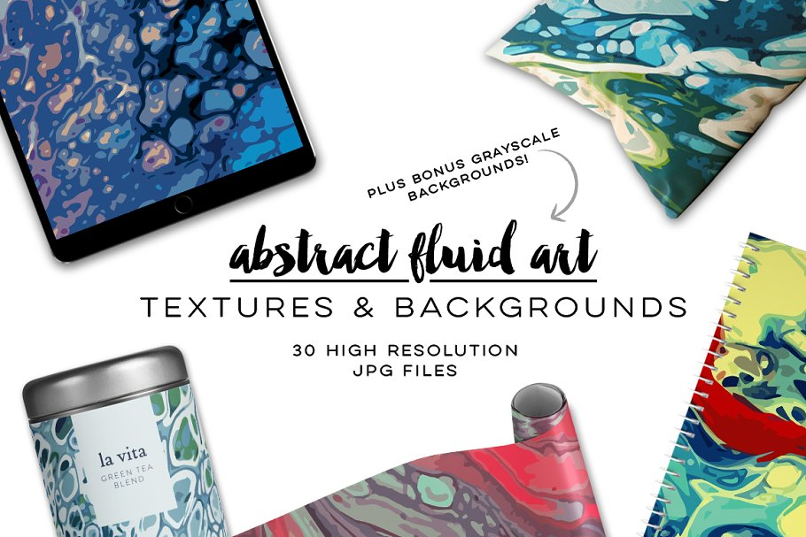 Abstract Fluid Art Textures