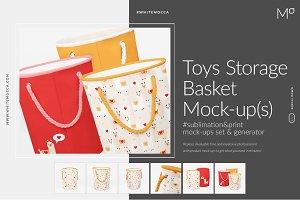 Toys Storage Basket Mock-ups Set