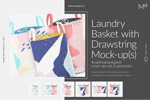 Laundry Basket Mockups Set Generator
