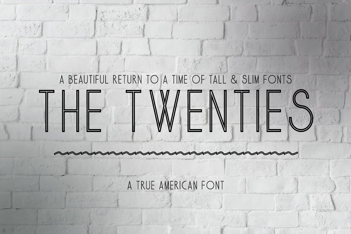 The Twenties - A True American Font
