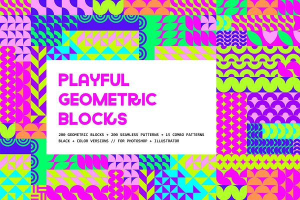 Graphic Patterns: Pulpixel Design - Playful Geometric Blocks