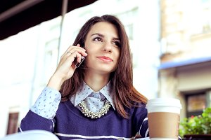 Business woman with phone