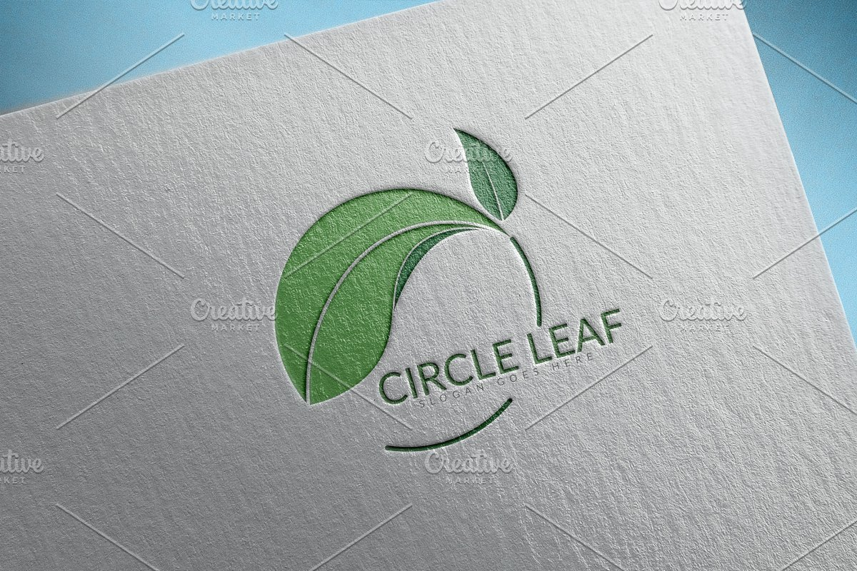 Circle Leaf Logo in Logo Templates - product preview 8