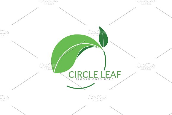 Circle Leaf Logo in Logo Templates - product preview 1