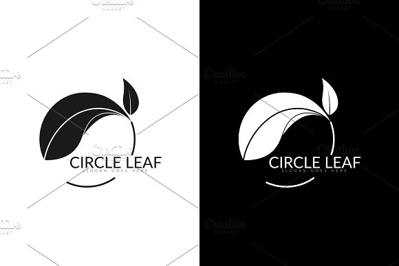 Circle Leaf Logo in Logo Templates - product preview 2