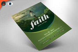 Faith Jesus and Love Church Flyer