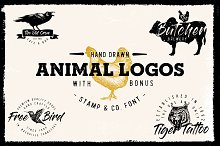 Vintage Sketched Animal logos by  in Logos