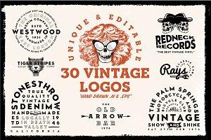 30 Vintage & Retro logo templates