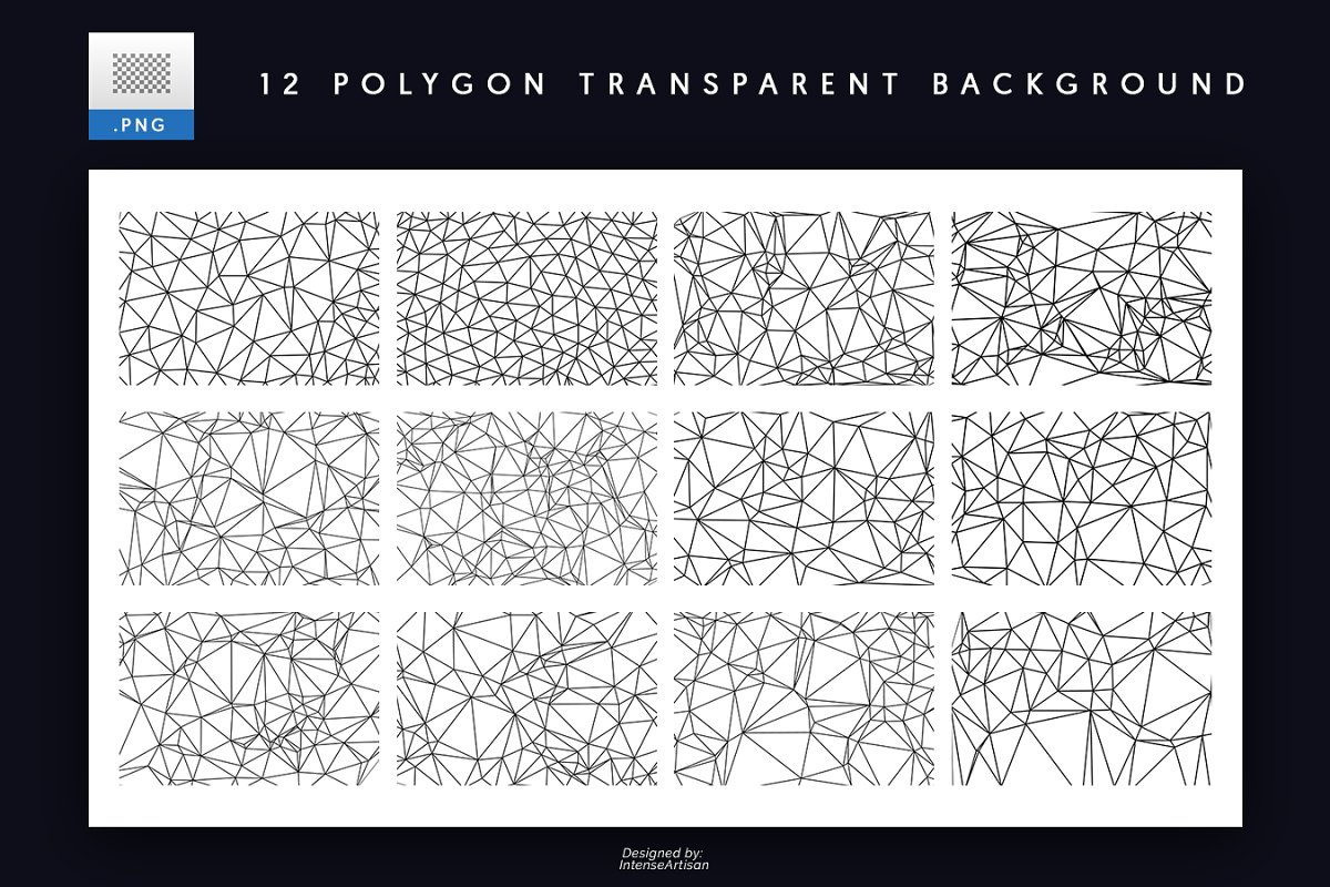 12 Polygon Outline Background