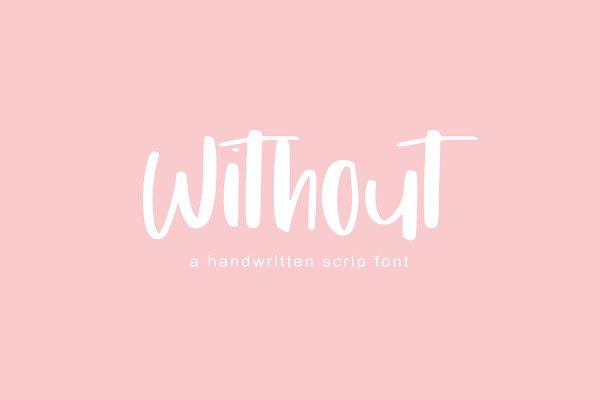 Best Without   Handwritten Font Vector