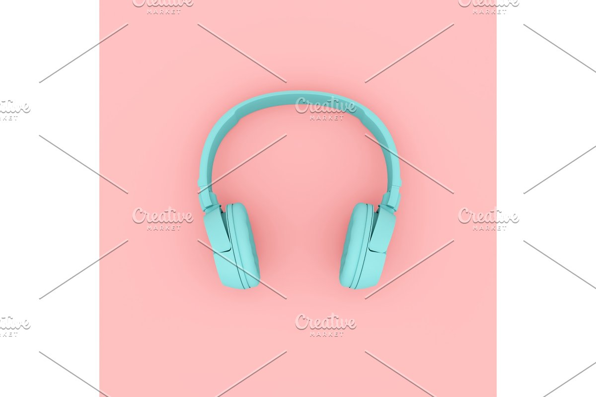 Modern Headphones two tone color.