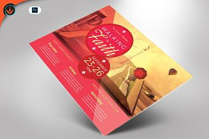 Walking in Faith Flyer Template