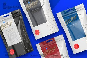 Doy-Pack with Zipper Poster Mockup