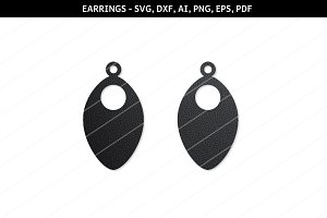 Scales earrings svg,drop earrings
