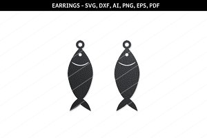 Fish earrings svg, fish scg,cricut