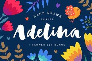 Adelina Script + Flower set Bonus