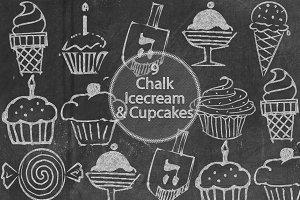 Chalk Icecream and Cupcakes