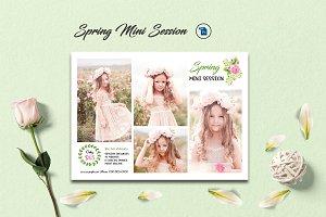 Spring mini sessions template V976