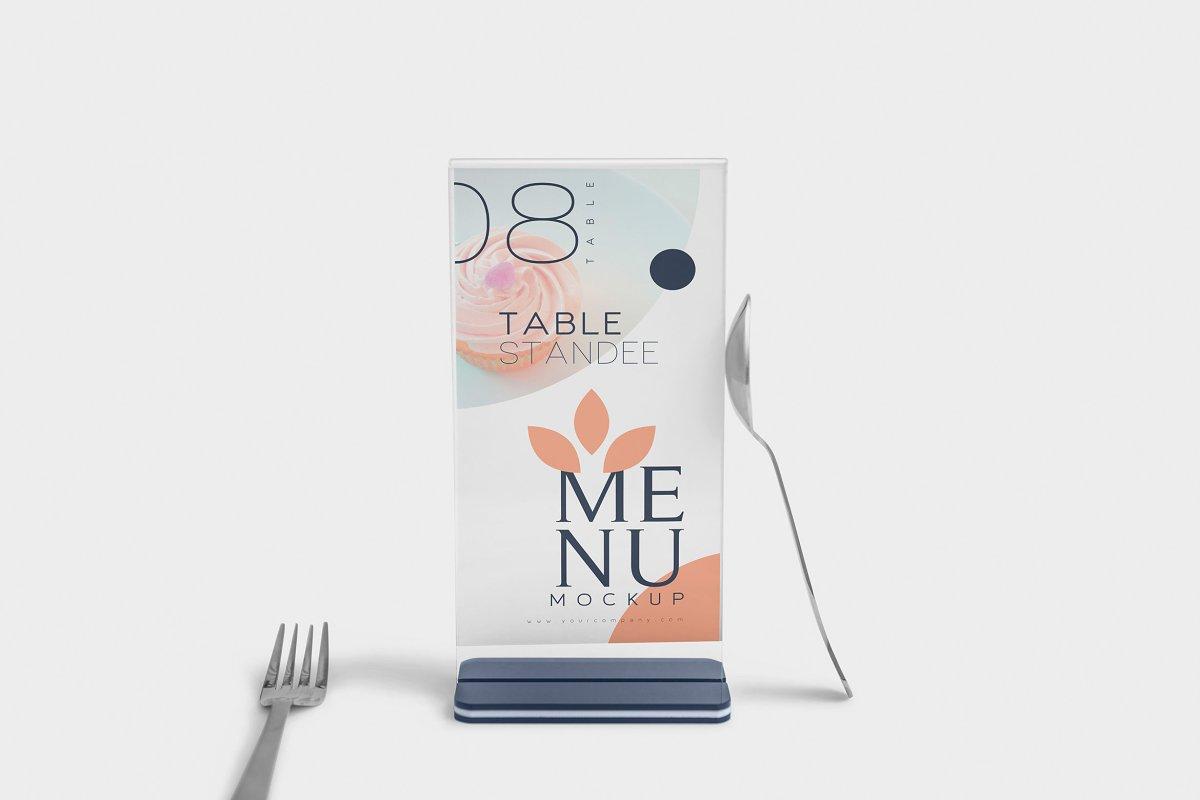 Table Menu Mockups in Product Mockups