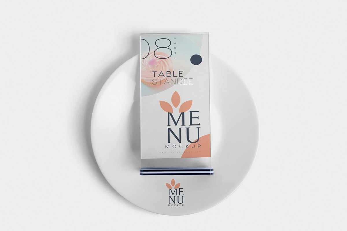 Table Menu Mockups in Product Mockups - product preview 2