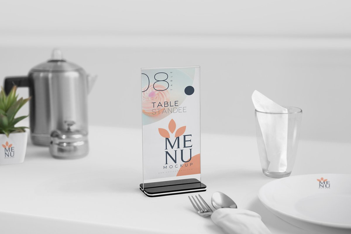 Table Menu Mockups in Product Mockups - product preview 4