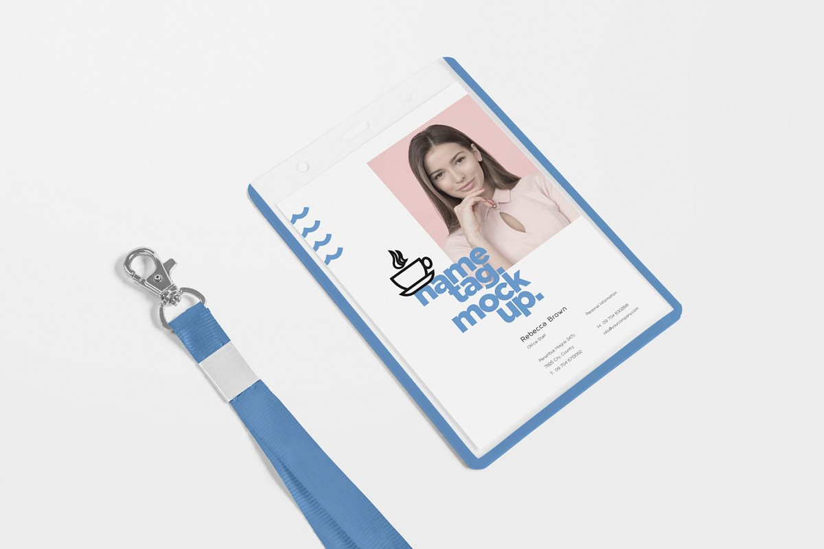 Corporate ID Card Mockups in Mockup Templates - product preview 2