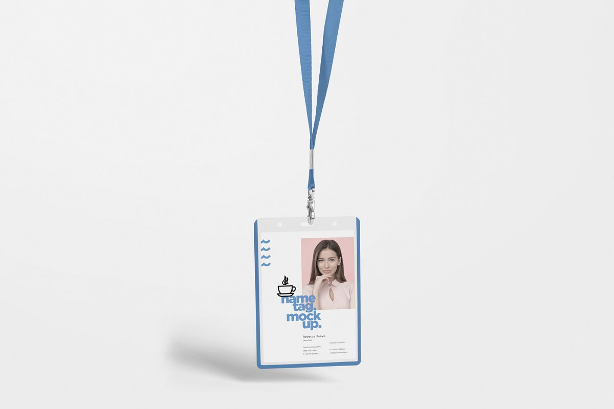 Corporate ID Card Mockups in Mockup Templates - product preview 3