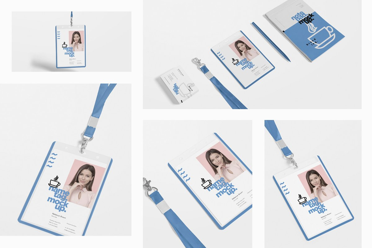 Corporate ID Card Mockups in Mockup Templates - product preview 1