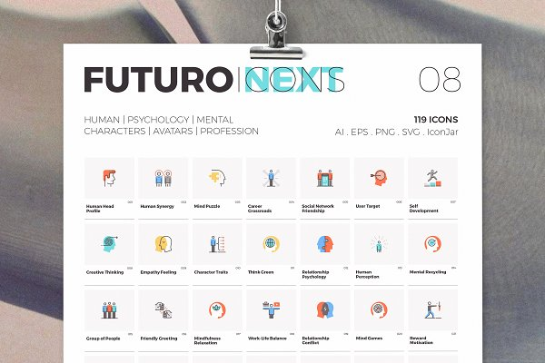 Icons: Bloomicon - Futuro Next Icons / Human Pack