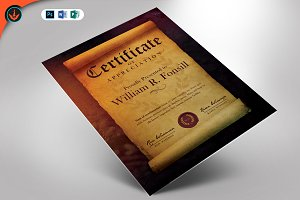Royal Scroll Certificate Template