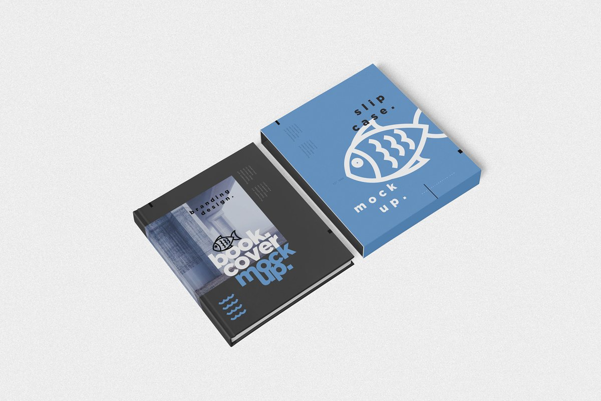 Book Cover & Case Mockups