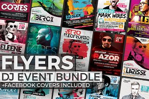 12 DJ Event Flyers + FB Covers