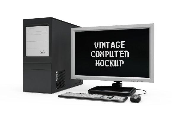 Vintage Computer Set Mock-up in Mobile & Web Mockups - product preview 3