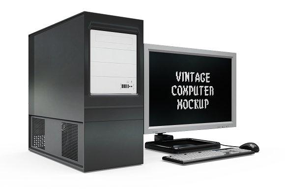 Vintage Computer Set Mock-up in Mobile & Web Mockups - product preview 8