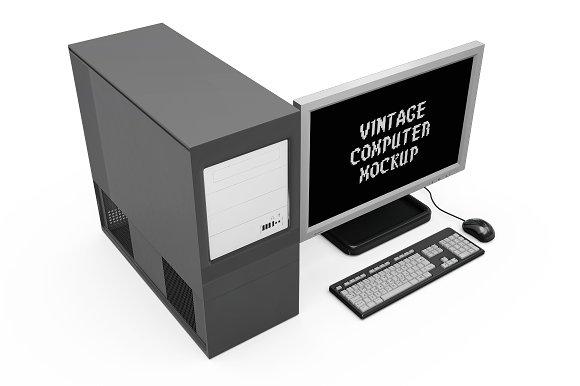 Vintage Computer Set Mock-up in Mobile & Web Mockups - product preview 9