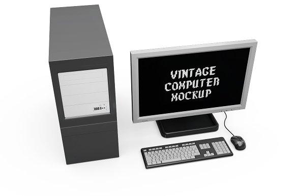 Vintage Computer Set Mock-up in Mobile & Web Mockups - product preview 11