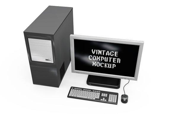 Vintage Computer Set Mock-up in Mobile & Web Mockups - product preview 13