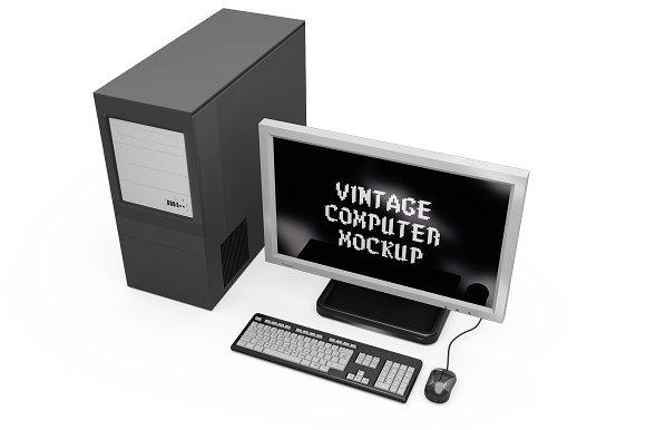 Vintage Computer Set Mock-up in Mobile & Web Mockups - product preview 14