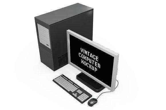 Vintage Computer Set Mock-up in Mobile & Web Mockups - product preview 16