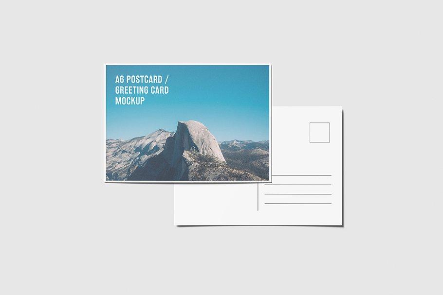 A6 Landscape Flyer, Postcard Mockup