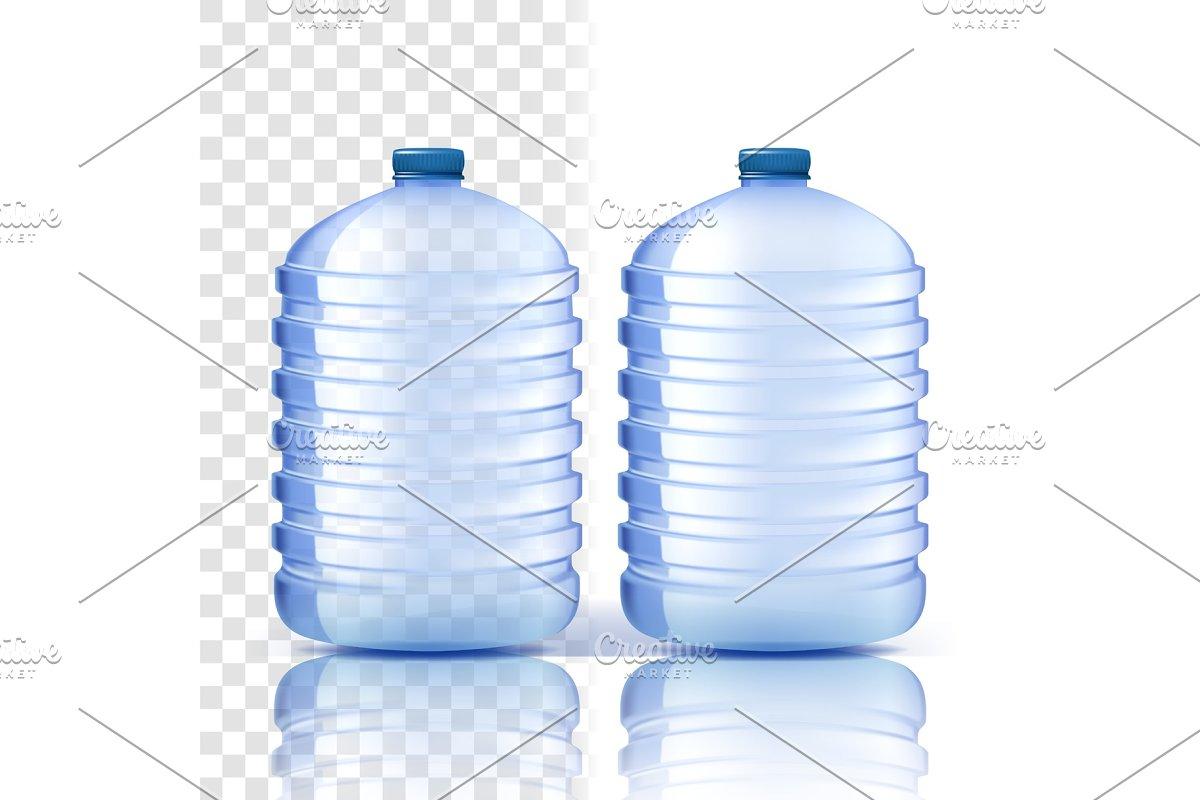Plastic Bottle Vector. Clean Cover