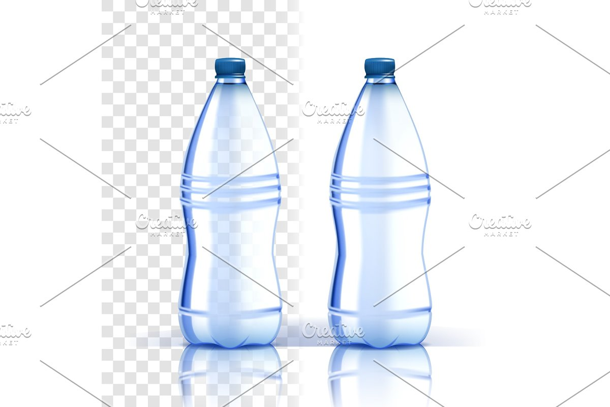 Plastic Bottle Vector. Recycle