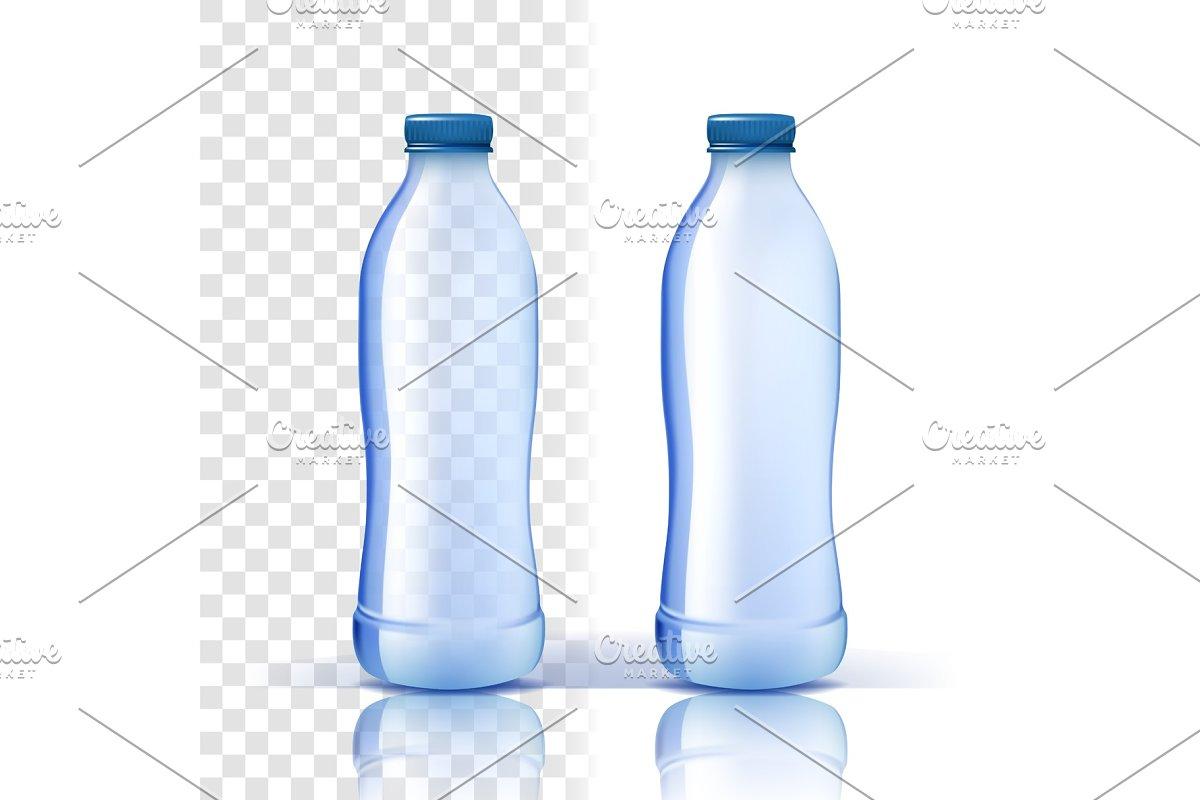 Plastic Bottle Vector. Mockup Purity