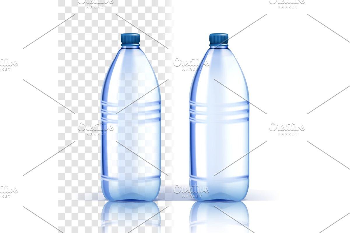 Plastic Bottle Vector. Fresh