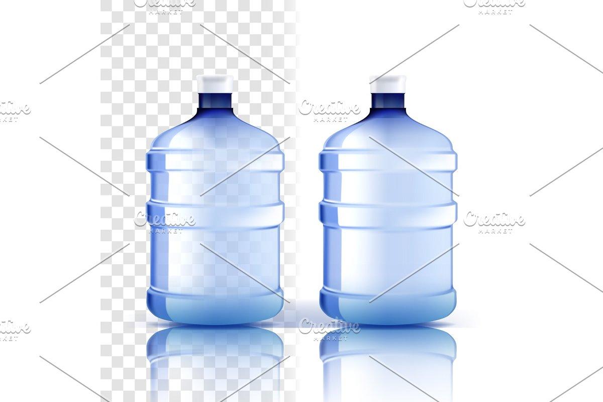 Plastic Bottle Vector. Full Object